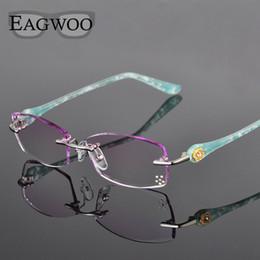 a6b41e13980 frameless spectacles 2019 - Metal Alloy Eyeglasses Women Rimless Prescription  Reading Myopia Color MR-8