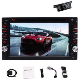 Micrófono ruso online-Eincar Auto Estéreo Radio 2Din Coche DVD Reproductor de video Bluetooth Navegación GPS 8G GPS Mapa USB SD Micrófono Llamada con manos libres 6.2 '' + Cámara trasera