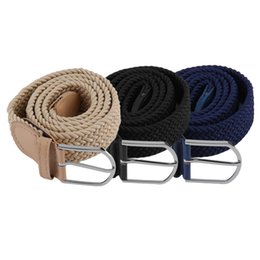 stretch belts for men Promo Codes - fashion belt for Mens Casual Woven Braided Stretch Elastic Belt Waistband Waist Strap Stylish Practical 1