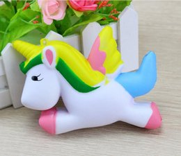 Wholesale cute kids toys - 12cm Cute Unicorn Squishy Squeeze Relieve Stress Slow Rising Kid Toy Decor Gift