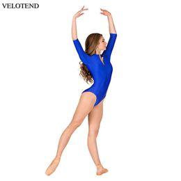 2019 giacche da ginnastica nere Body danza classica per adulti Danza Body per ginnastica Body per donna Collo alto Elastico Body nero Lycra Spandex Unitard Dancewea sconti giacche da ginnastica nere