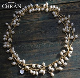 Wholesale Chunky Bridal Jewelry - whole saleChran Promotion Item! Luxury Multiple Layer Freshwater Pearl Necklace For Women Chunky Statement Bridal Necklace Jewelry 150cm