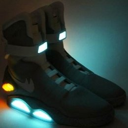 Wholesale Mag Back Future - With DHL 2017 Mag McFly's Automatic Shoelace LED Lighted Shoes Marty McFly's Back To The Future Casual Sneakers