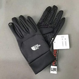 Wasserdichte berührungshandschuhe online-1 paar wasserdichte TN'F Handschuhe Touchscreen Handschuhe Die Norh Outdoor Sport Gesicht Warme Vollfinger Guantes Handschuhe Handy Touch iGloves