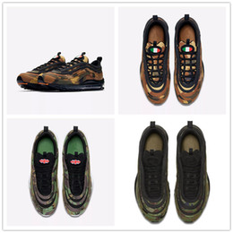 Wholesale Shoes Uk Man - 2018 New Arrival 97 Country Camo Sports Running Shoes for High quality International UK Italy Japan Men Women 97s Jogging Sneakers EUR 36-46