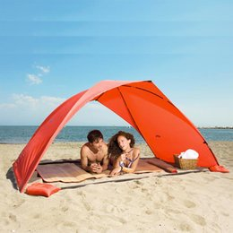 Wholesale Only Coats - Beach outdoor tent single layer tent Coated silver Ultralight Summer camping fishing Canopy only blue available