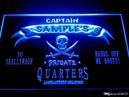 Wholesale Pirates Pc - DZ024-b Name Personalized Custom Private Quarters Pirate Man Cave Neon Sign