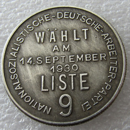 Wholesale Germany Art - H(36)Germany Commemorative Coins 1944 Copy Coins Brass Craft Ornaments