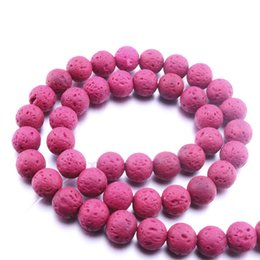 loose balls Coupons - 48pcs lot 8MM Colourful Lava stone Volcanic Rock Round Loose Beads Ball DIY Essential Oil Diffuser Jewelry Bracelet Making