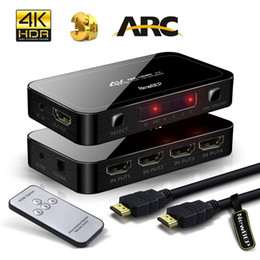 Wholesale input output boxes - Mini 4K 4 Input 1 Output HDMI 2.0 Switch Box 4x1 HDR HDMI Switcher Audio Extractor With ARC & IR Control For PS4 Apple TV HDTV