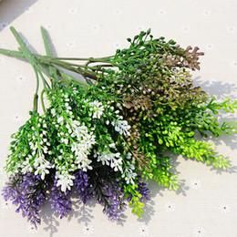Künstlicher lavendel plastik online-15 köpfe seide lavendel handwerk künstliche kunststoff blumen korn dekorative simulation von aquatischen grünpflanzen für home hochzeit decora 10 stücke