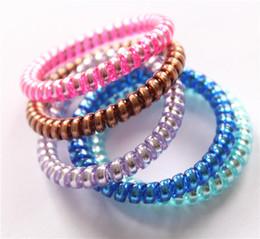 Женщины красочные лентой девушка конфеты цвет оголовье телефонный шнур эластичный хвост держатели волос кольцо диаметр 5 см от