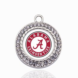 Alabama Crimson Tide Charme Ouro / Sliver Pingentes Para Colar / Pulseira Fazendo Descobertas Jóias DIY Artesanais Presentes Artesanais de Fornecedores de chumbo de pistola