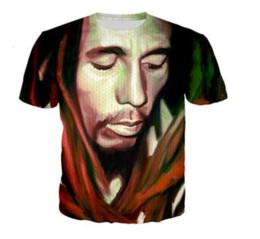 Marley camisetas on-line-Novos Homens / Mulheres 3D Reggae Originador Bob Marley Impressão de Manga Curta T-Shirts Engraçadas Harajuku Aptidão Casual Tops Camisa U1058