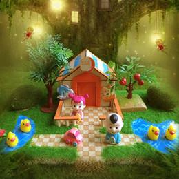 große plastikpuppen Rabatt Handarbeiten Miniatur Projekt DIY Puppen Haus Garten Hof Gebäude Modell Spielzeug Kinder spielen Spaß früh lernen Geburtstagsgeschenk