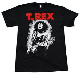 T.rex-Marc Bolan-Classic Bolan y guitarra Image-X-Large camiseta negra desde fabricantes