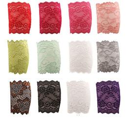Estiramento on-line-Hot Stretch Lace Boot Cuffs 12 Cores de Alta Qualidade Mulheres Flor Aquecedores de Perna Guarnição Do Laço Toppers Meias Rendas Casa Desgaste roupas para casa 3945