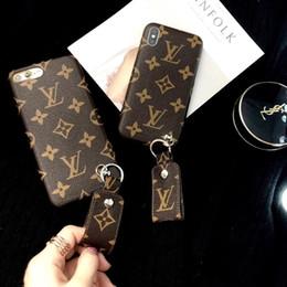 Etiquetas de la manzana online-1 UNIDS Para los casos de iPhone Xsmax Mobile Shell Classic Luxury Sling tag Funda blanda Funda de piel para iphone 6/7/8 / X / XS