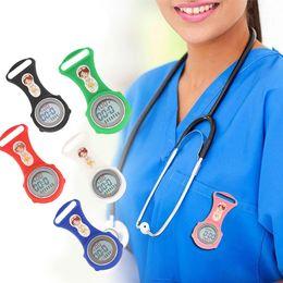2019 mini silikon uhren Sanwood Luminous Mini Digital Silikon Kalender Krankenschwester Uhren Doktor Tasche medizinische Uhr rabatt mini silikon uhren