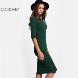 Vestito longuette a maniche lunghe girocollo verde casual nuovo arrivo stile estivo casual da donna da