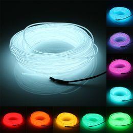 Wholesale led soft neon - 20M EL Led Flexible Soft Tube Wire Neon Glow Car Rope Strip Light Xmas Decor 12V Christmas Home Decoration
