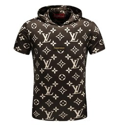 Wholesale New Summer Products - 2018 Fashion Brand Summer new product kanye west sup Letter print Hooded t-shirt YEEZUS Hip Hop outdoor sport shirt