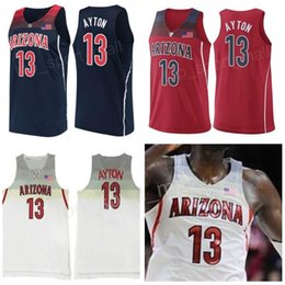d711aade2 Draft Pick First Arizona Wildcats 13 Deandre Ayton Jerseys Navy Blue Red  White College Basketball 24 Andre Iguodala University Stitched Men