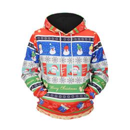 Argentina Nieve y Santa Claus Imprimir 3D Sudaderas con capucha Hombres Mujeres Harajuku Vacaciones de Navidad Streetwear Barato Jumper Sudadera con capucha # L6702 Suministro