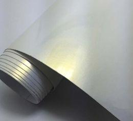 Enrolado de carro de vinil rolo branco on-line-1.52x18 m de Alta Qualidade PVC Auto Adesivo Vinil Roll Wrap Camaleão Pérola Branco Vinil Etiqueta