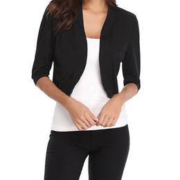 8c928a1eaeb Fashion Cardigan Womens Jacket Crop Top Bolero Shrug Open Front Design Plus  Size Cropped Cardigans Half Sleeve Tops