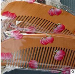 brosse humide originale Promotion Peigne En Bois Naturel Santé Pêche En Bois Anti-statique Soins de Santé Barbe Peigne Pocket Peignes Poche À Cheveux Masseur De Cheveux Styling Outil