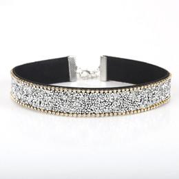 1a9a6ec4af93 anchos collares de plata para mujer Rebajas Venta completaFARLENA  Brillantes diamantes de imitación de plata y