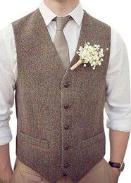 Nueva llegada marrón para hombre traje chaleco hombres de la boda traje de la chaqueta Slim Fit hombres Outwear abrigo solo Breasted hombres vestido traje chaleco más tamaño desde fabricantes
