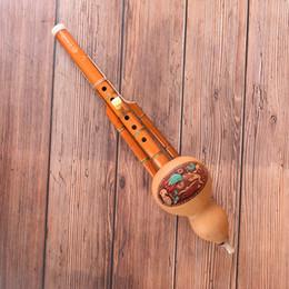 2019 chinois pour les débutants Chinois main fait à la main Hulusi brun en bambou Gourde Cucurbit Flûte Ethnique Instrument de Musique C clé pour débutant mélomanes chinois pour les débutants pas cher