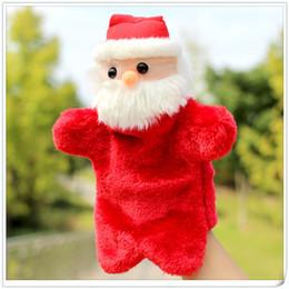 2019 куклы ручной работы Рождественский кукольный рука куклы игрушки 27СМ Санта-фаршированные куклы Storytellin даже палец руки кукол для детей детские рождественские подарки кукольный GGA1165 дешево куклы ручной работы