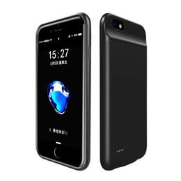 carregador de telefone de alta capacidade Desconto Caso carregador de bateria para iphone 6 7 8 6 s plus caso de bateria banco de potência casos de carregamento carregador ultra slim back pack externo