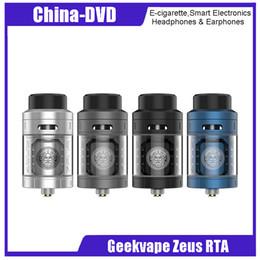 Canada Geekvape authentique zeus rta atomiseur 4ml Top Airflow zeus Atomizer avec flux d'air 3D Boîte à cigarettes électronique MOD Vape Original 100% 2230026 Offre