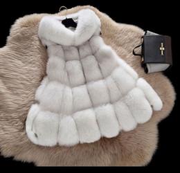 43722dfa8ac New Fashion S-4XL Women Winter Clothes Hooded Jacket Medium Long Vest Loose  Waistcoat Women Faux Fur Vest