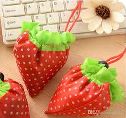 Sacs à provisions créatifs de fraise se pliant réutilisable de poche pratique Sac de rangement tenu à la main écologique facile portent 1 55hd cc ? partir de fabricateur