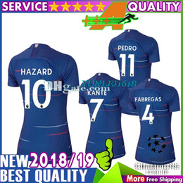 Women MORATA soccer jersey BAKAYOKO RUDIGER football jersey Hazard 18 19  football shirt Fabregas KANTE BARKLEY camisetas de futbol ed659f8f8
