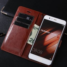 Wholesale Huawei Flip Case - huawei P10 Plus Leather Case P10 Lite Luxury Flip Wallet Coque For huawei P9 Cover Phone Bag P8 Case