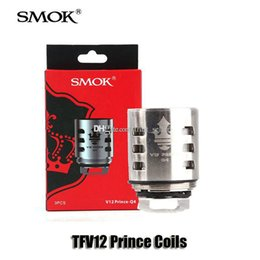 Wholesale original authentic - 100% Original SMOK TFV12 Prince Cloud Beast Tank Coil V12-Q4 M4 X6 T10 Mesh Strip Coils Head Core For Prince Atomizers Authentic Smoktech