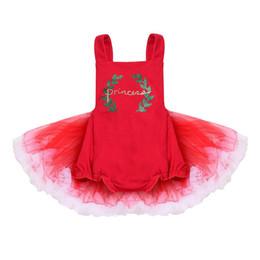 vestido de encaje rojo recién nacido Rebajas Recién nacido Bebé Niñas Mono Princess Party Lace Tutu Mini vestido Outfit sin mangas Rojo 0-24M