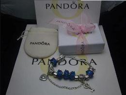 Wholesale Heart Ceramics - Luxury Fit Pandora 925 Bracelet Fashion Bracelet Brand Designer Holiday Gift New Design Heart