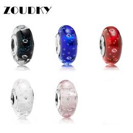 ZOUDKY 100% 925 Sterling Silber Bubble Pattern Glasperlen Fit Original Armband DIY Armband Schmuck Großhandel von Fabrikanten