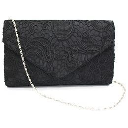 wholesale envelope red clutch bag 2018 - Fashion Boutique New Classy Lace Clutch Envelope Bag Bridal Designer Ladies Evening Party Prom