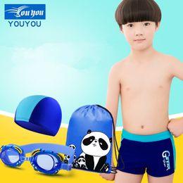 64af9d2fc23b3 Boy Swimming Trunks For Boys Swimwear Boys Swimming Hat Swim Cap Kids  Goggles Kids Swimsuit With Bag