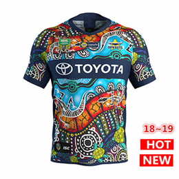 Wholesale rugby cowboys - North Queensland Cowboys INDIGENOUS rugby Jerseys 2018 2019 NRL National Rugby League nrl Jersey COWBOYS indigenous shirt s-3xl