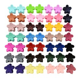 Wholesale small hair claw clips - 50pcs lot 0.5 Inch Korea Hair Accessories Baby Girls Hairpin Small Flowers hair Clips Bangs Hair Claws For Children