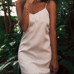 Women Lace Pajamas Women Fashion V-neck Sleeveless Sling Sleep Tops Summer  Sleepwear Sexy Night Dress 902f56cca
